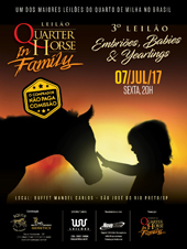3° Leilão Quarter Horse In Family - Embriões, Babies e Yearlings