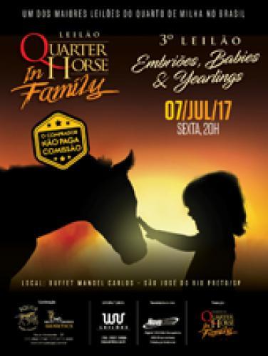 4º Leilão Quarter Horse In Family - Embriões, Babies e Yearlings