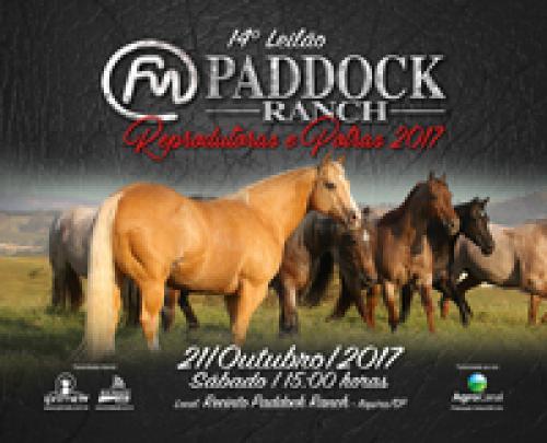 15º Leilão Paddock Ranch - Reprodutoras e Potras 2018