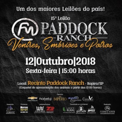 16º Leilão Paddock Ranch - Embriões e Potros