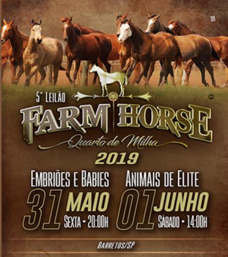 6º Leilão Farm Horse - Embriões e Babies