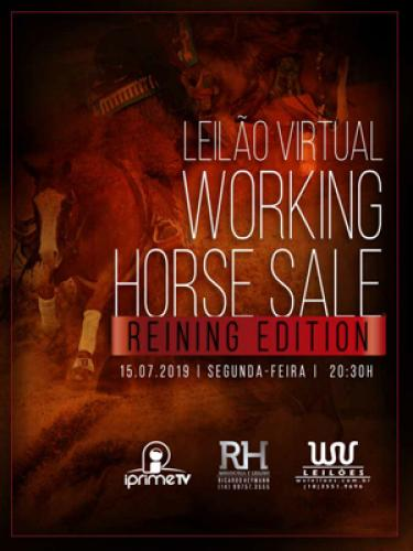 Leilão Virtual Working Horse Sale - Reining Edition