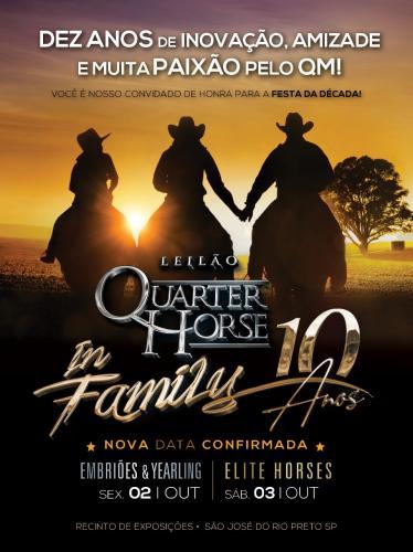 6º Leilão Quarter Horse In Family - Embriões, Babies e Yearlings