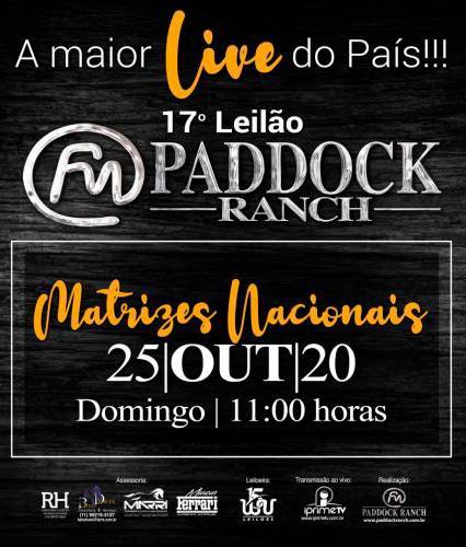 18º Leilão Paddock Ranch - Matrizes Nacionais